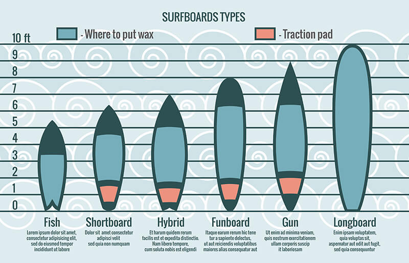 1602.m10.i305.n004.P.c20.186964433 Surfboards types vector silhouettes